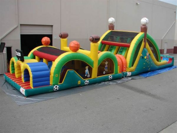 3 Lane Sports Obstacle Course